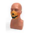 Halloween tökfej fekete textil szájmaszk M-es méret