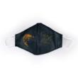 Ponty fekete/narancs textil szájmaszk XL-es méret
