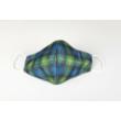 Skótkockás textil szájmaszk L-es méret