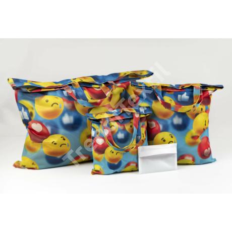"""""""Smile2"""" 3db-os textil táska szett"""