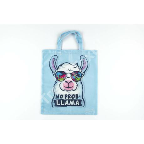 """""""No prob-Llama"""" 1db-os közepes textil táska"""