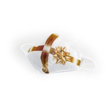 Karácsonyi csomag fehér textil szájmaszk M-es méret