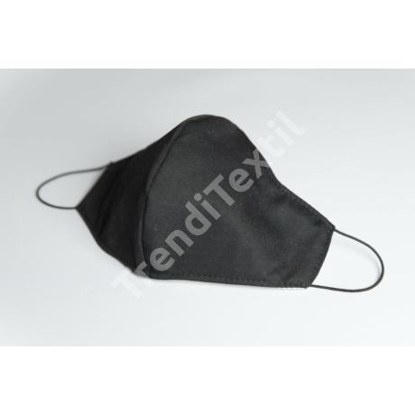 Fekete textil szájmaszk XL-es méret