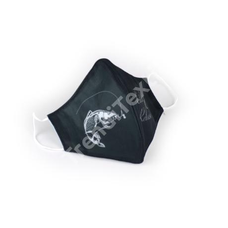Ponty fekete/fehér textil szájmaszk XL-es méret