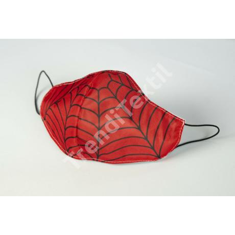 Pókember textil szájmaszk S-es gyerek méret