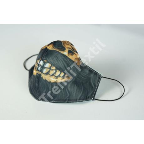 Szakállas koponya textil szájmaszk XL-es méret